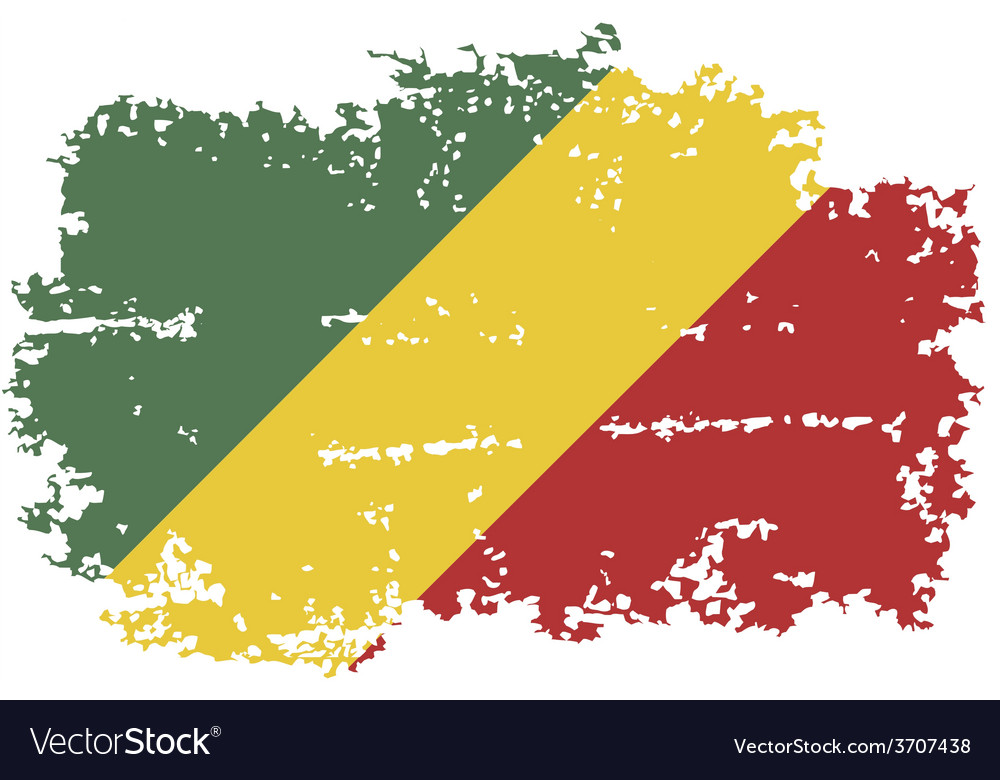 Congo grunge flag vector | Price: 1 Credit (USD $1)