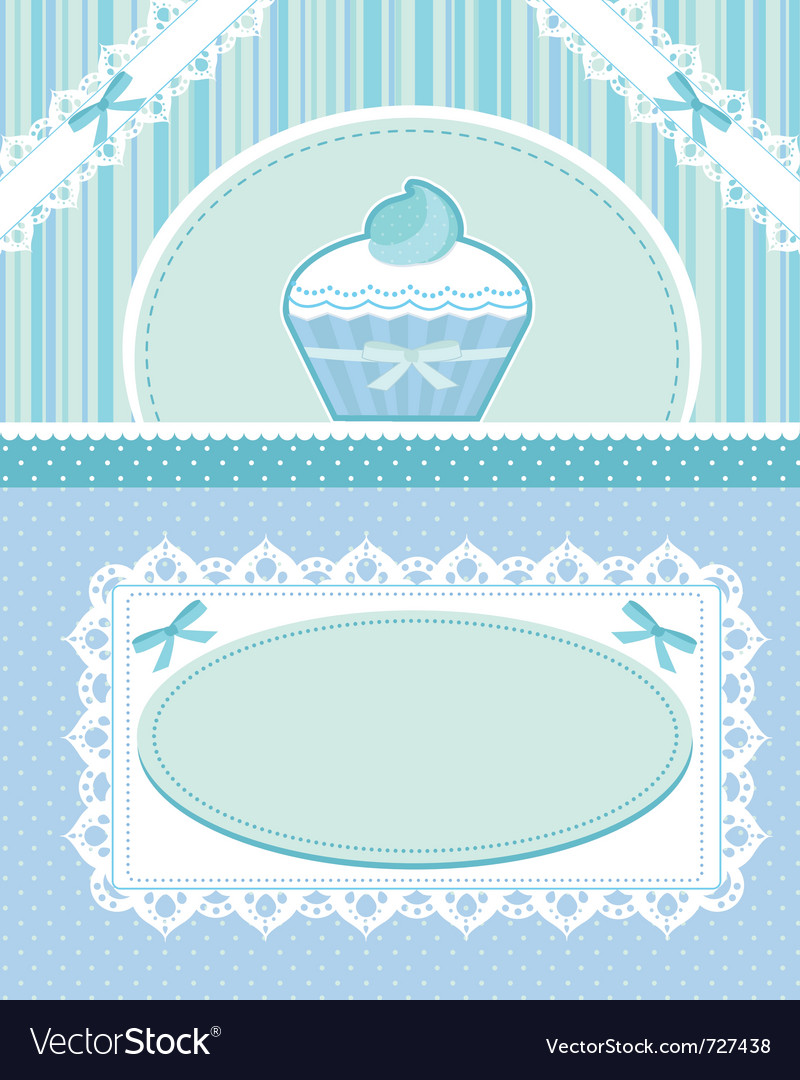 Cupcake card vector | Price: 1 Credit (USD $1)