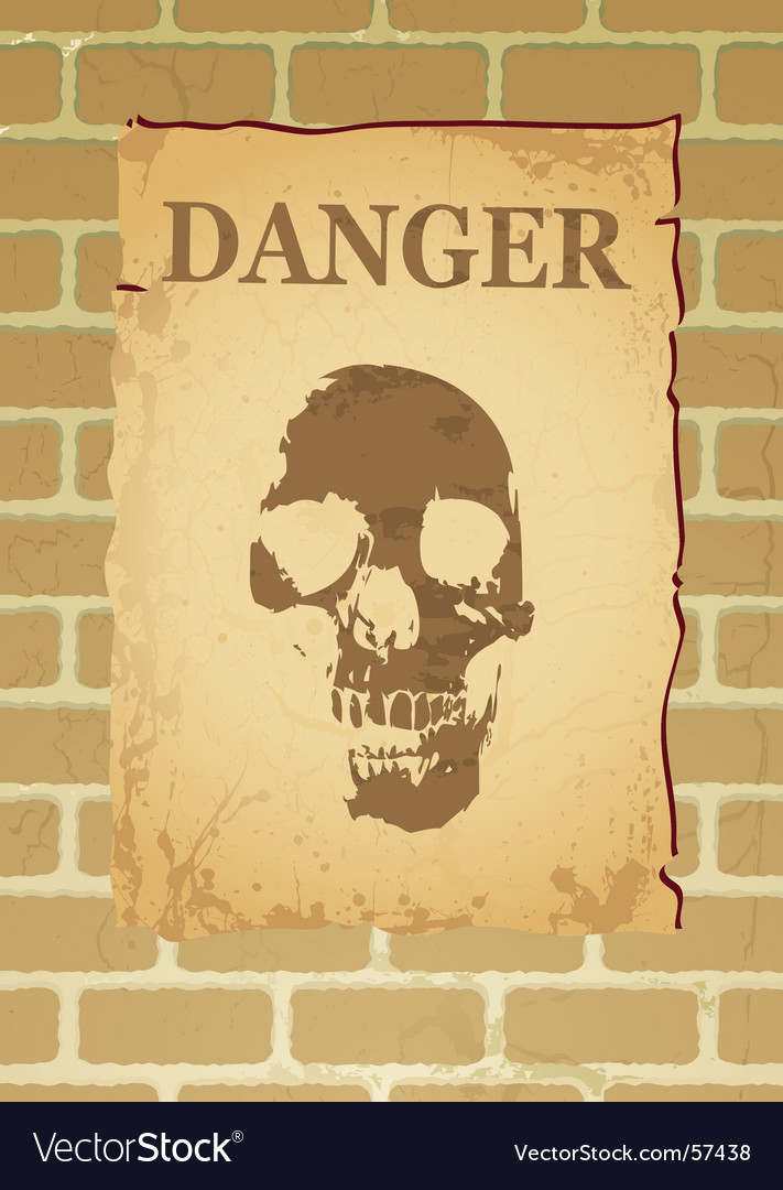 Danger poster vector | Price: 1 Credit (USD $1)