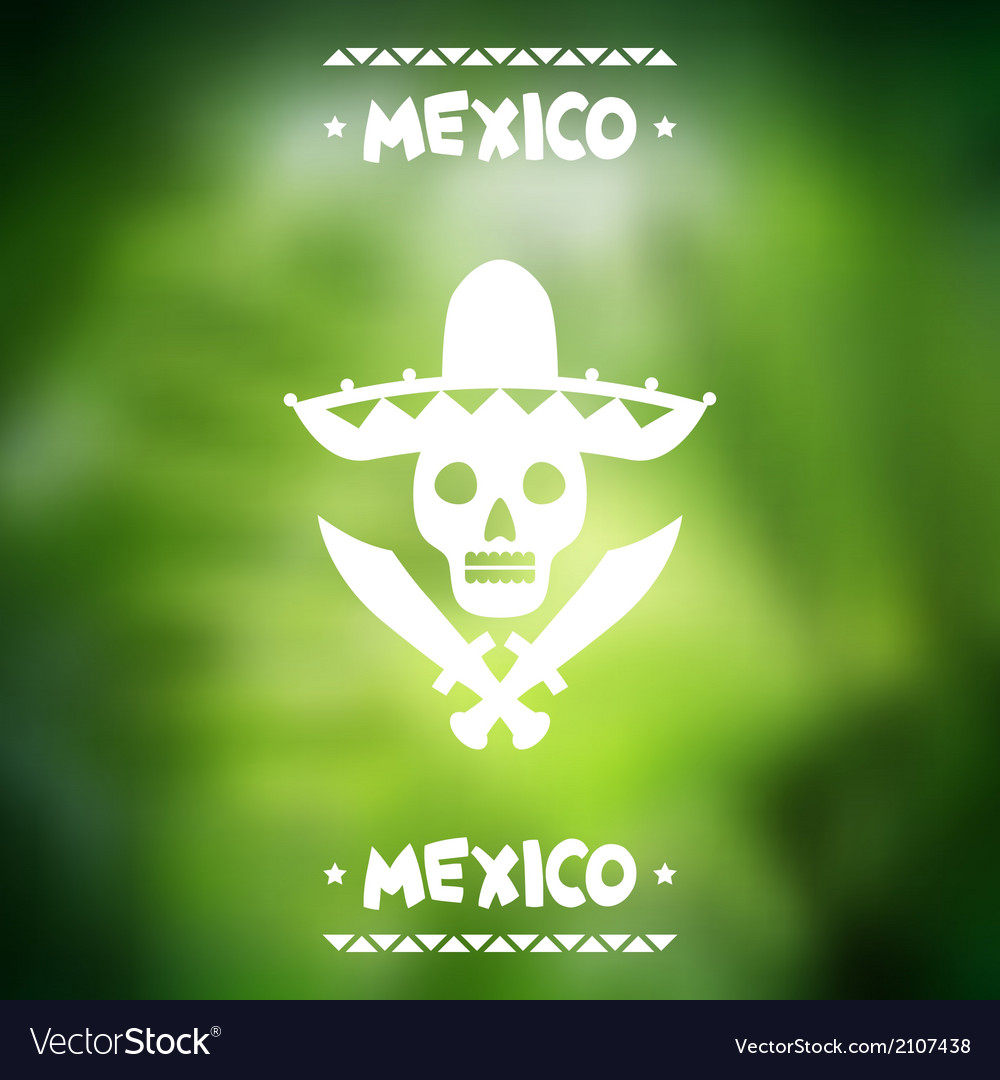 Ethnic mexican background design in native style vector | Price: 1 Credit (USD $1)
