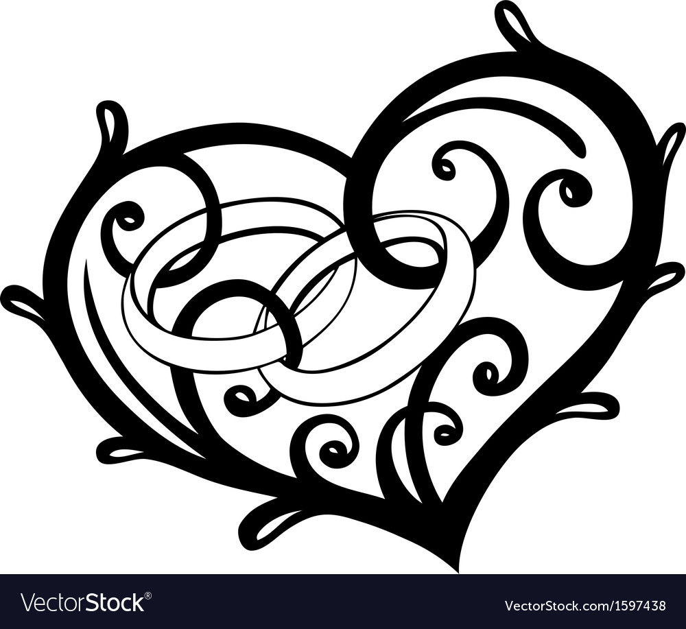Heart rings wedding vector | Price: 1 Credit (USD $1)