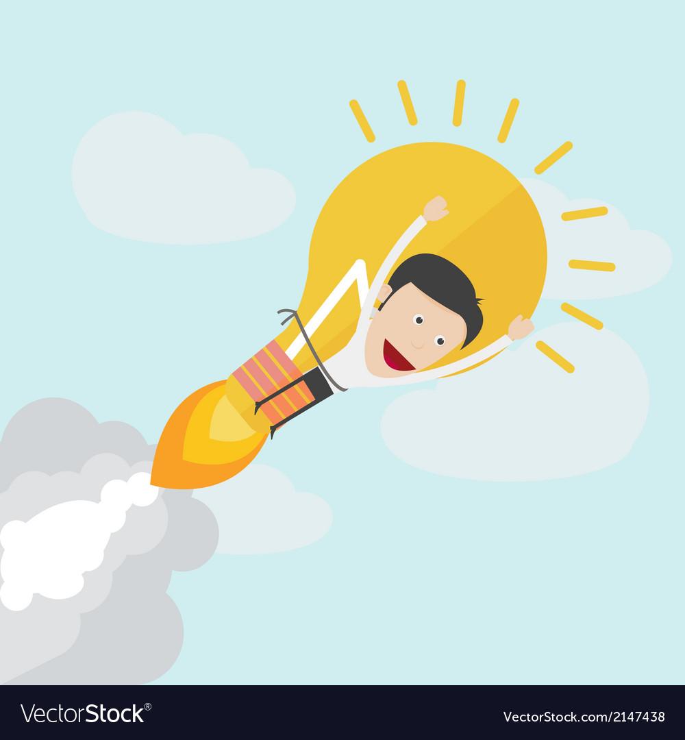 Idea rocket boot up vector   Price: 1 Credit (USD $1)