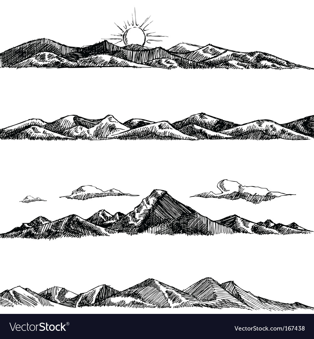 Mountain illustrations vector | Price: 1 Credit (USD $1)