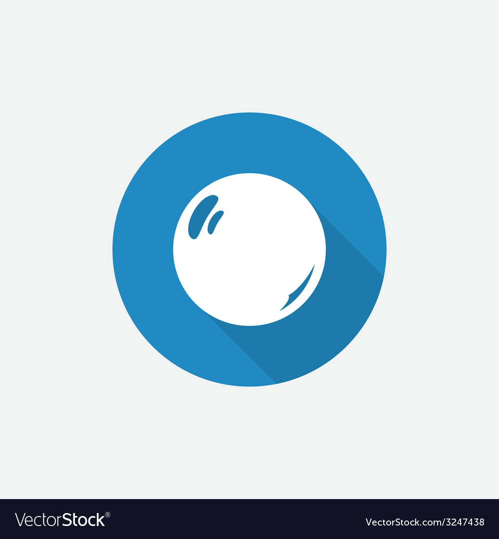 Pearl flat blue simple icon with long shadow vector | Price: 1 Credit (USD $1)