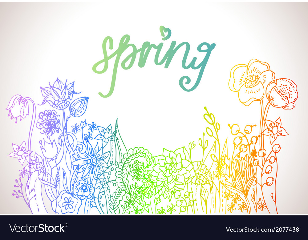 Romantic colorful flower background vector | Price: 1 Credit (USD $1)