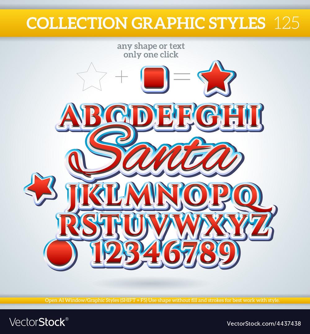 Santa graphic style for design vector