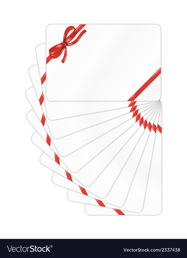 Set of gift cards with red ribbon and bow vector | Price: 1 Credit (USD $1)