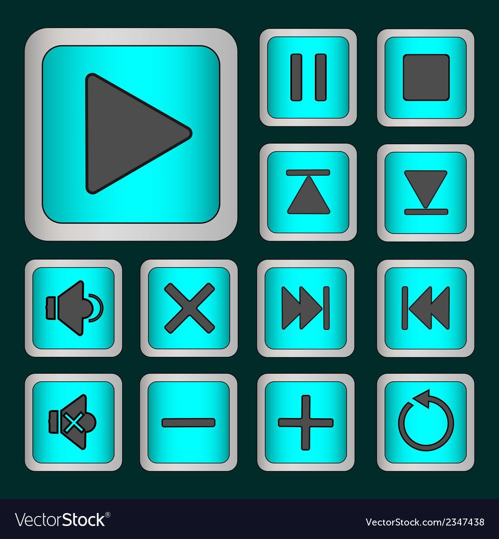 Set of neon buttons vector   Price: 1 Credit (USD $1)
