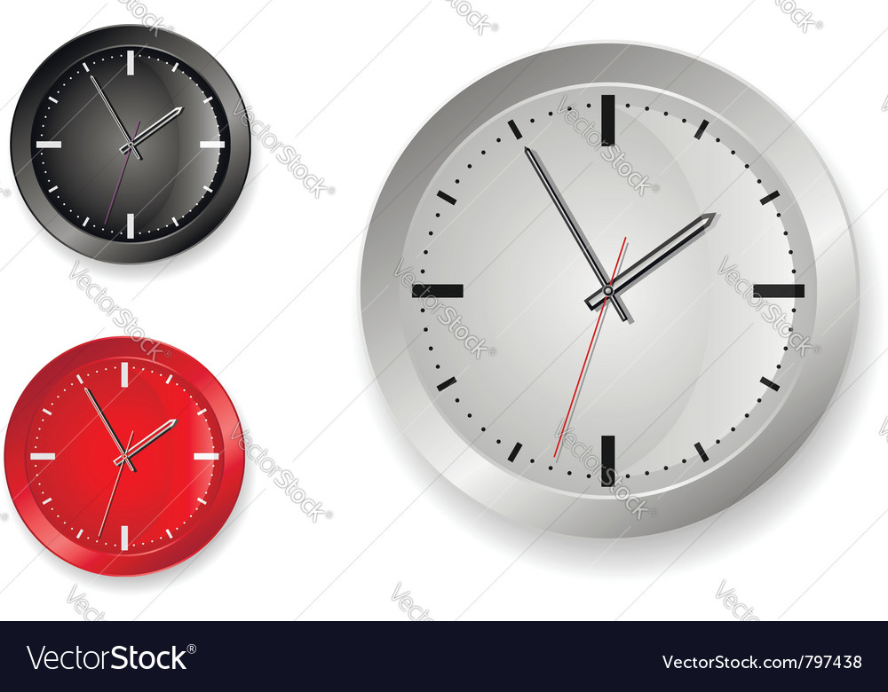 Stylish clock designs vector | Price: 1 Credit (USD $1)
