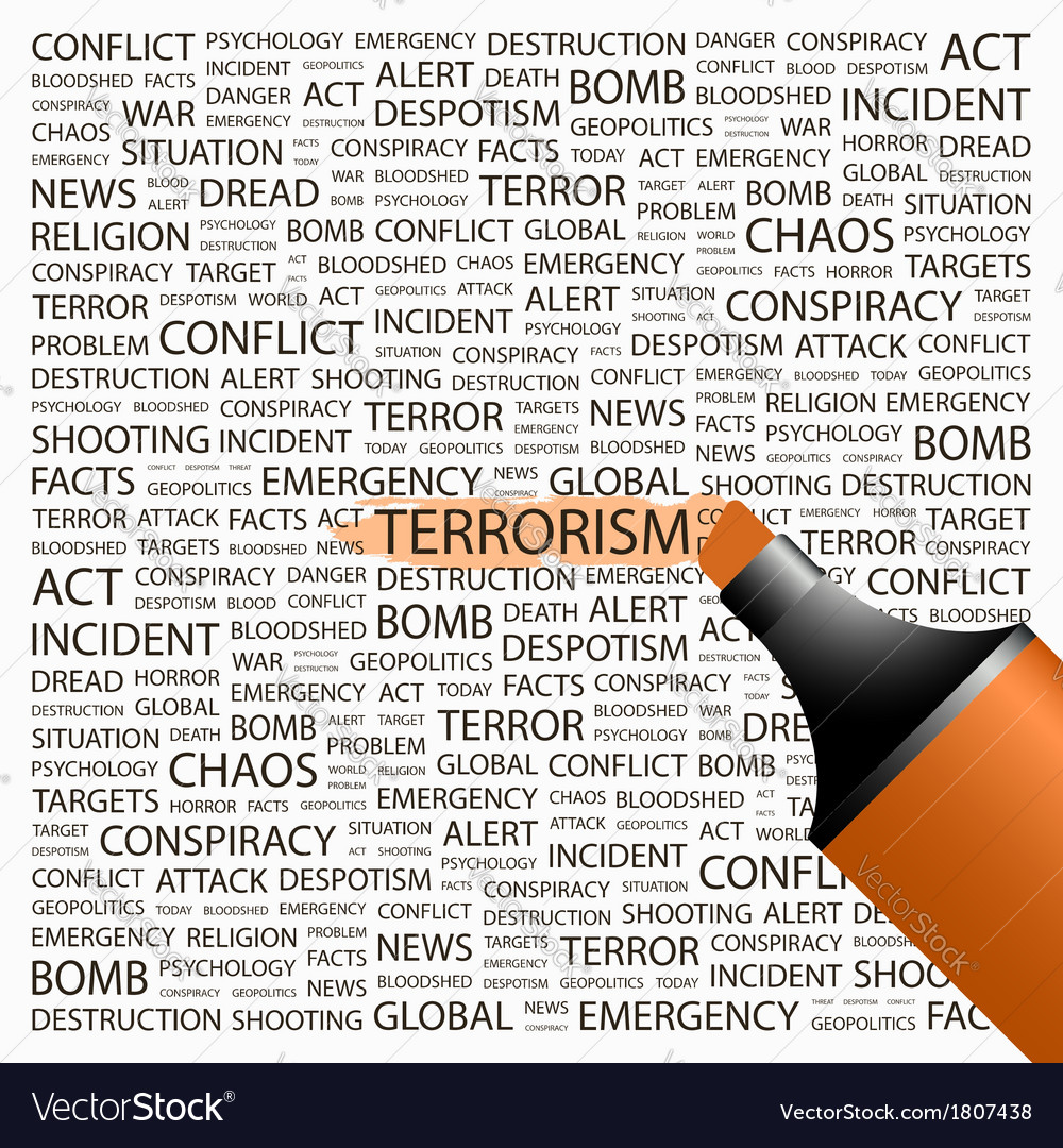 Terrorism vector | Price: 1 Credit (USD $1)