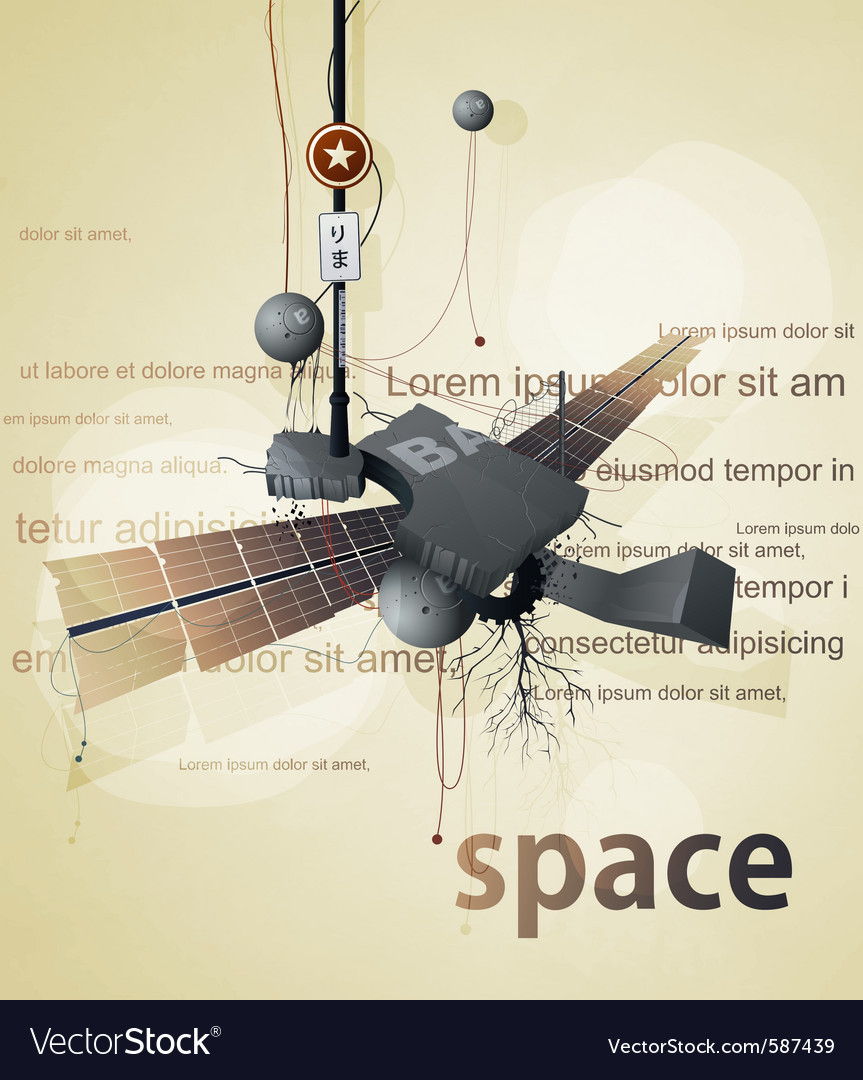 Abstract space station satellite vector | Price: 3 Credit (USD $3)