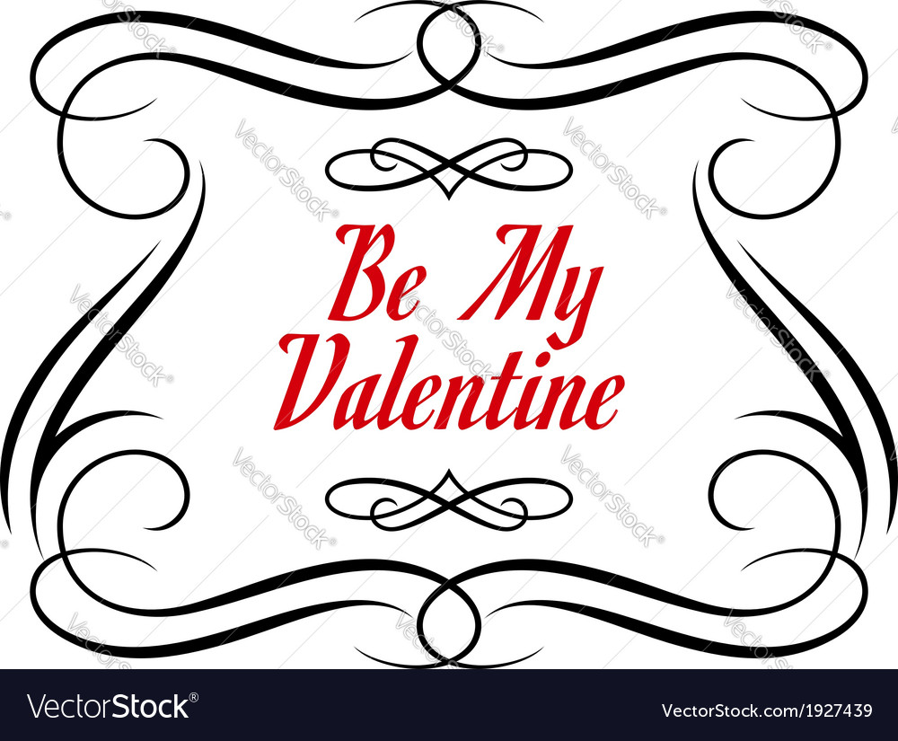 Be my valentine frame vector | Price: 1 Credit (USD $1)