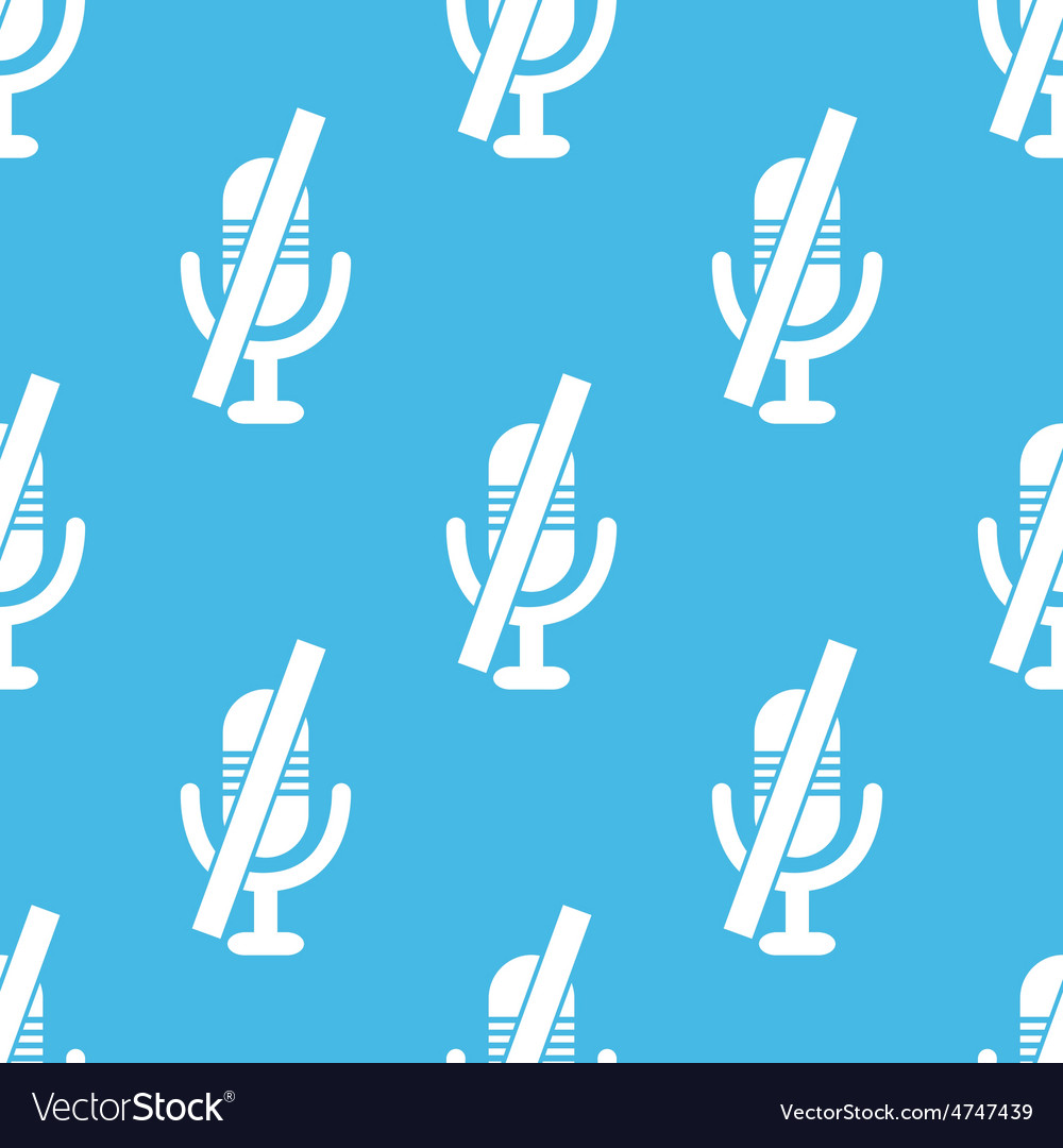 Blue muted microphone pattern vector | Price: 1 Credit (USD $1)