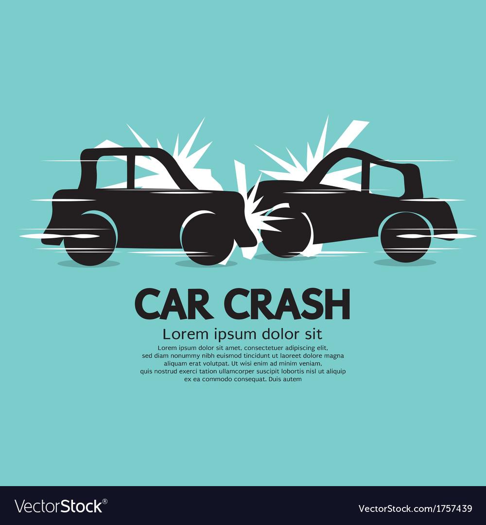 Car crash vector | Price: 1 Credit (USD $1)