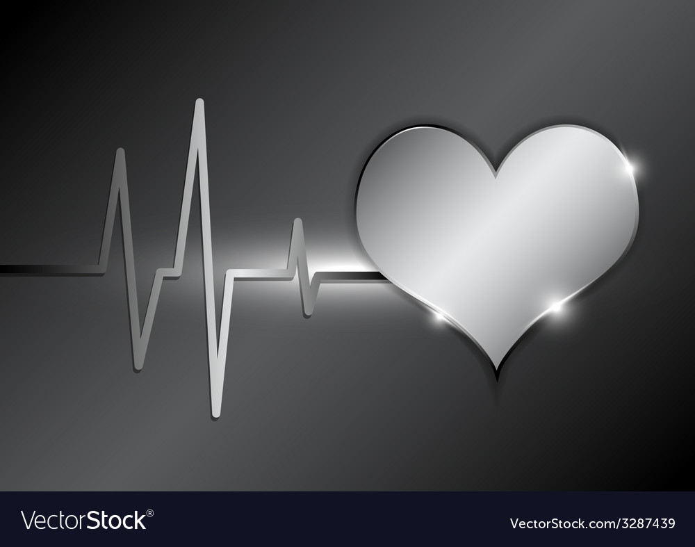 Cardiography background metallic style vector | Price: 1 Credit (USD $1)