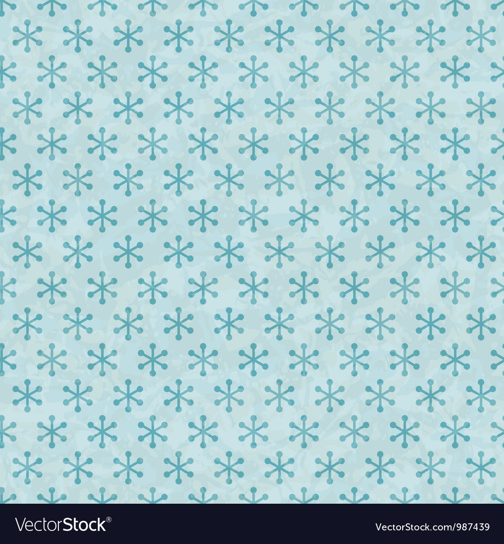 Christmas snowflakes pattern seamless vector | Price: 1 Credit (USD $1)