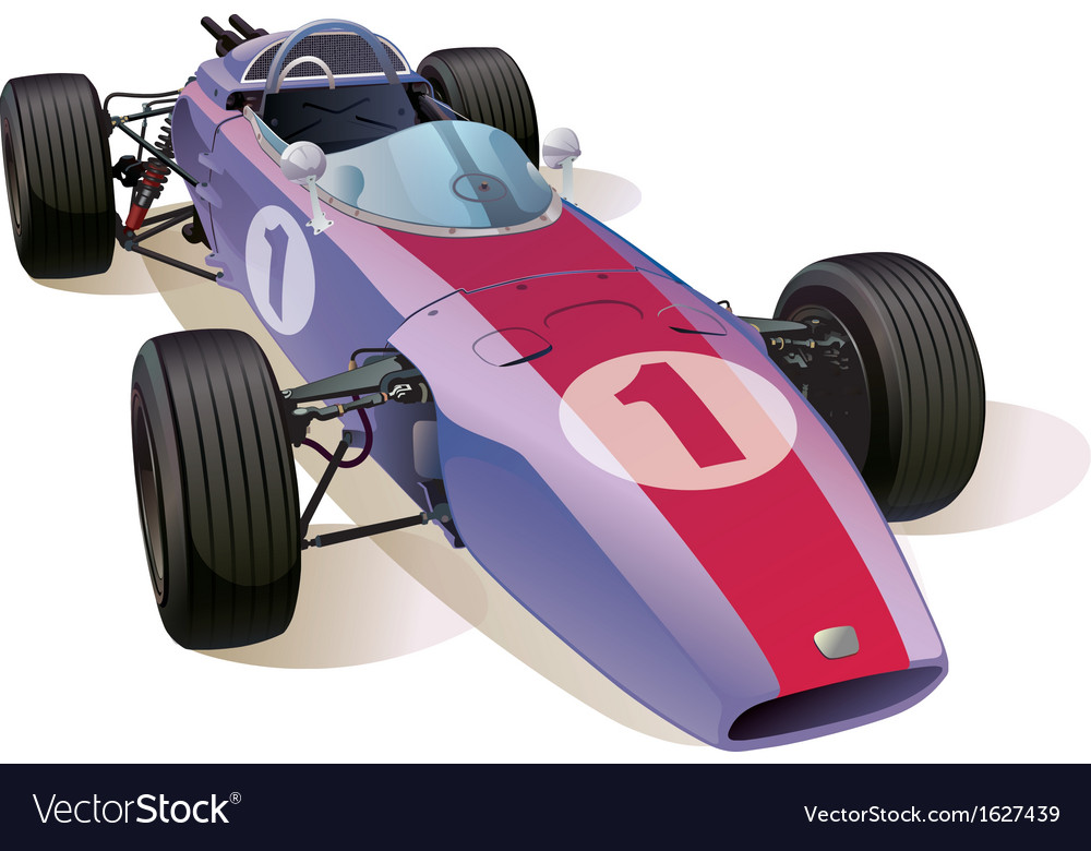 Classic f1 racing car vector | Price: 1 Credit (USD $1)
