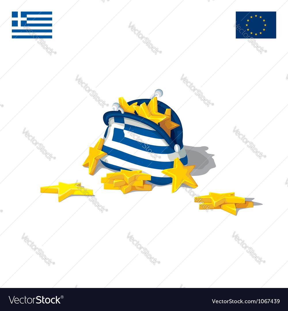The economic crisis in greece vector | Price: 1 Credit (USD $1)