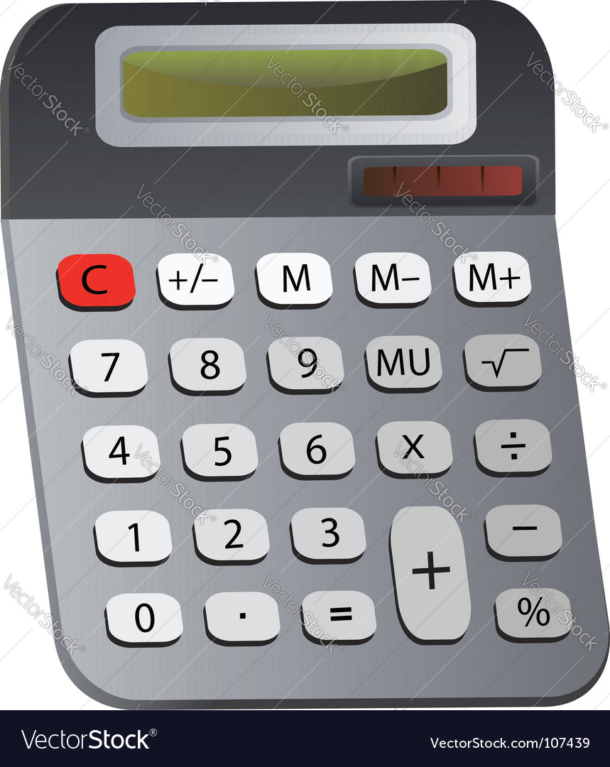 Electronic calculator vector | Price: 1 Credit (USD $1)