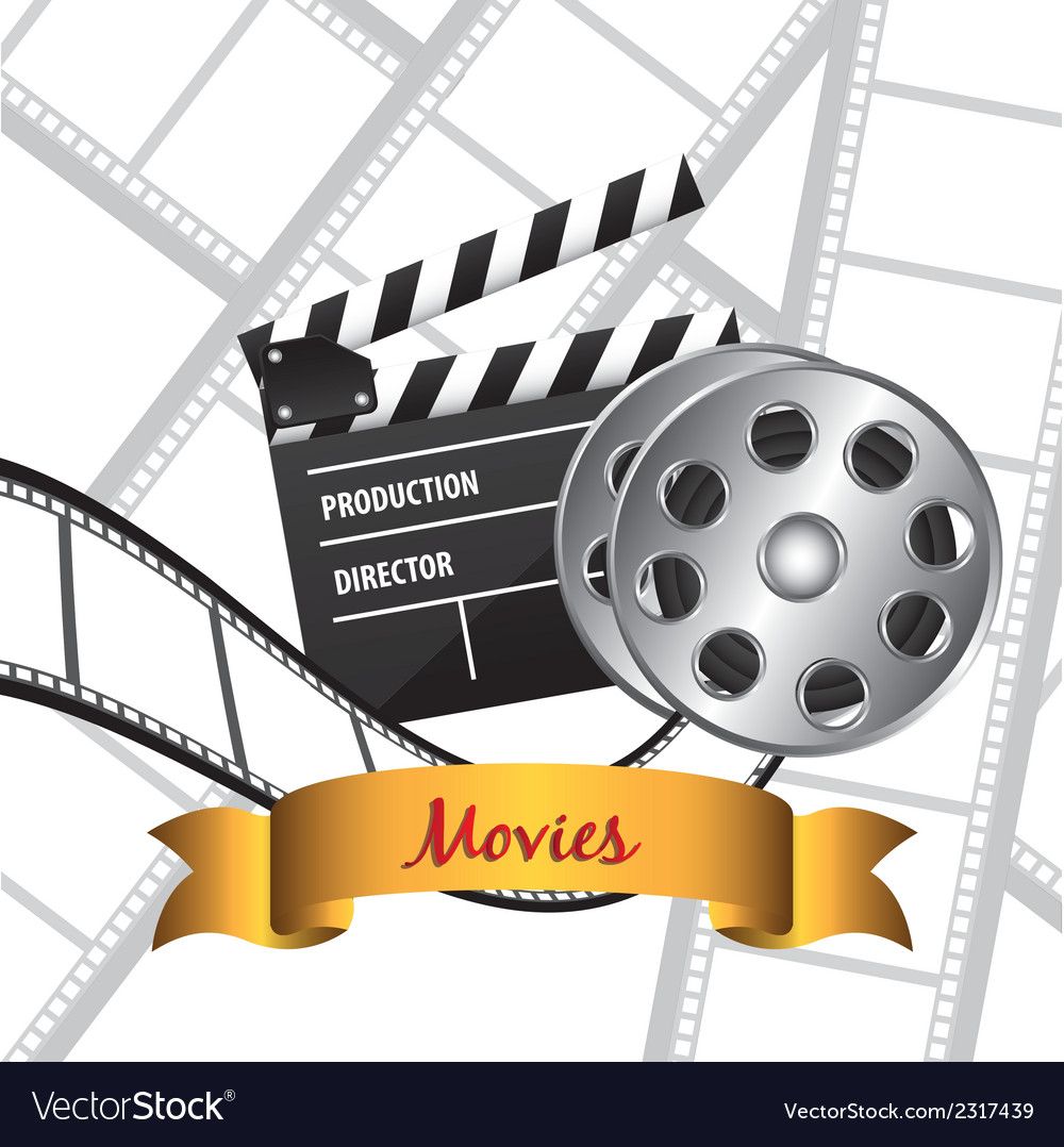 Film background with icons vector   Price: 1 Credit (USD $1)