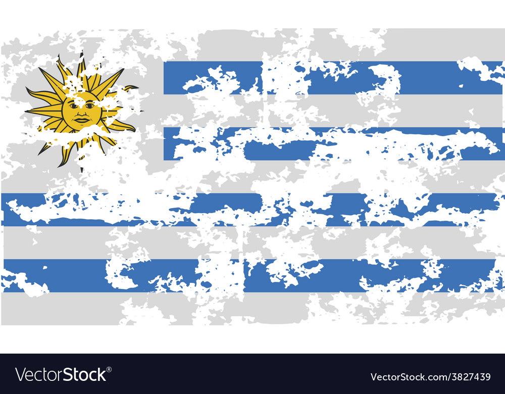 Flag of uruguay with old texture vector   Price: 1 Credit (USD $1)