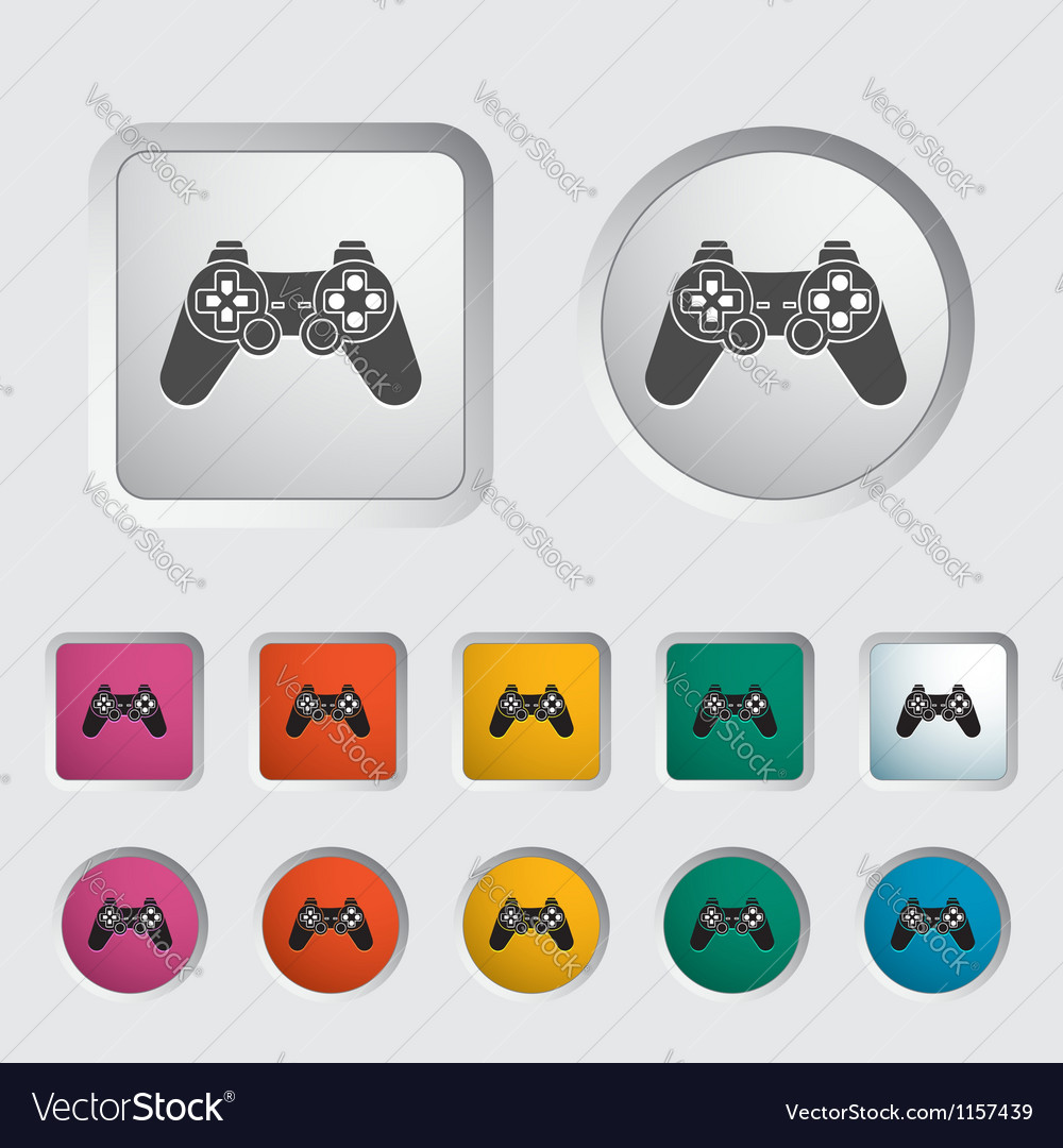Game icon vector | Price: 1 Credit (USD $1)