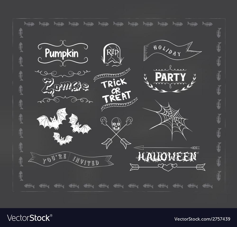 Halloween ornaments vector   Price: 1 Credit (USD $1)