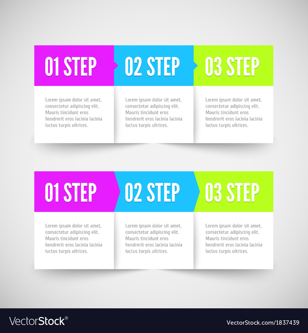 Modern infographic template flat styled vector | Price: 1 Credit (USD $1)