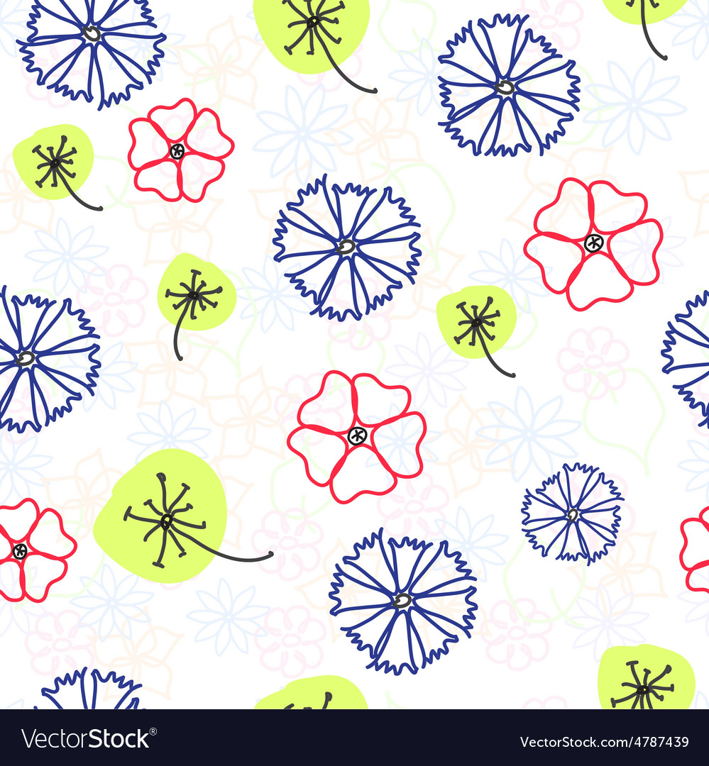 Naive floral background vector | Price: 1 Credit (USD $1)