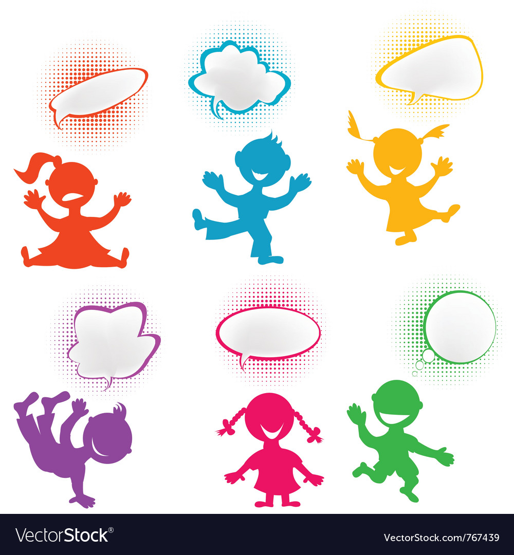 Playful children vector