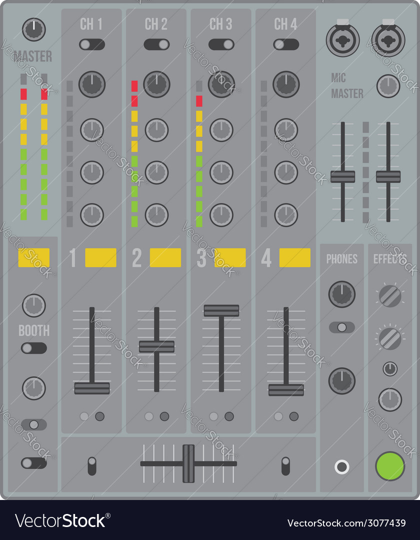 Sound dj mixer vector | Price: 1 Credit (USD $1)