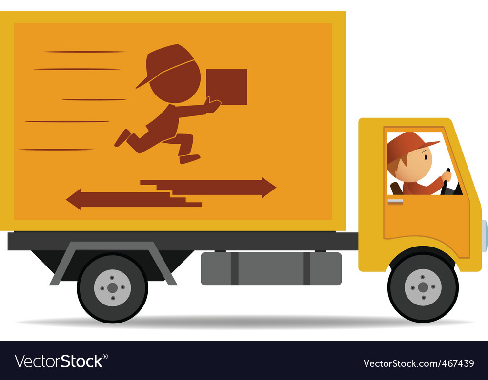 Truck delivery vector | Price: 1 Credit (USD $1)