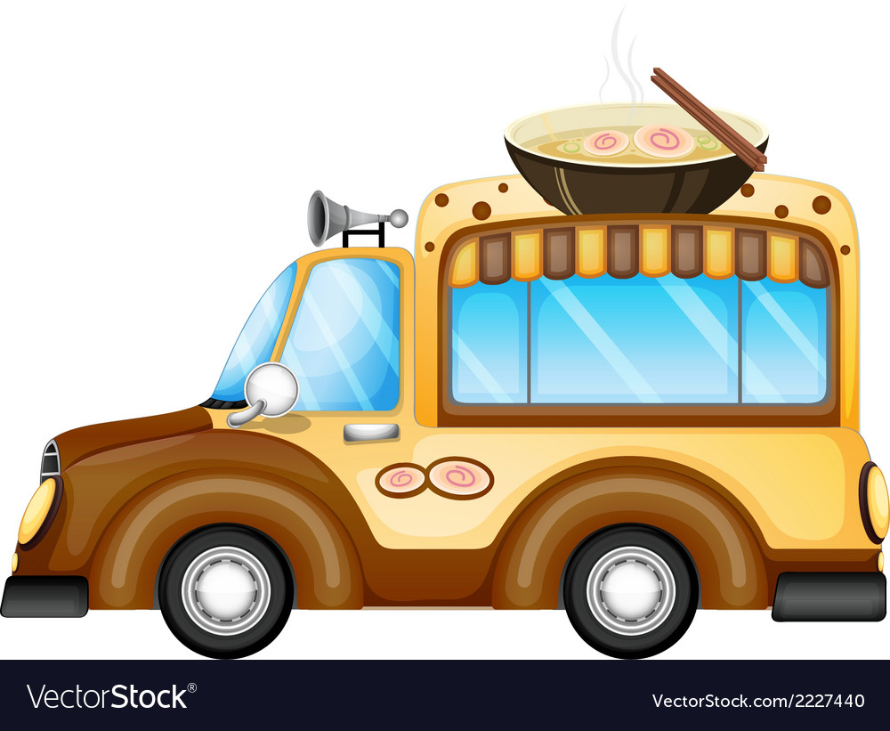 A vehicle selling soup vector | Price: 1 Credit (USD $1)