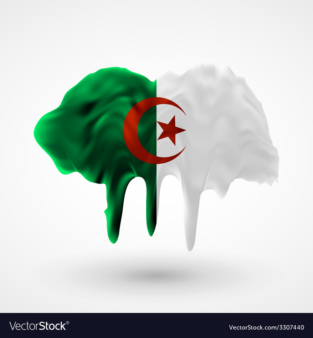 Algeria flag painted colors vector | Price: 1 Credit (USD $1)