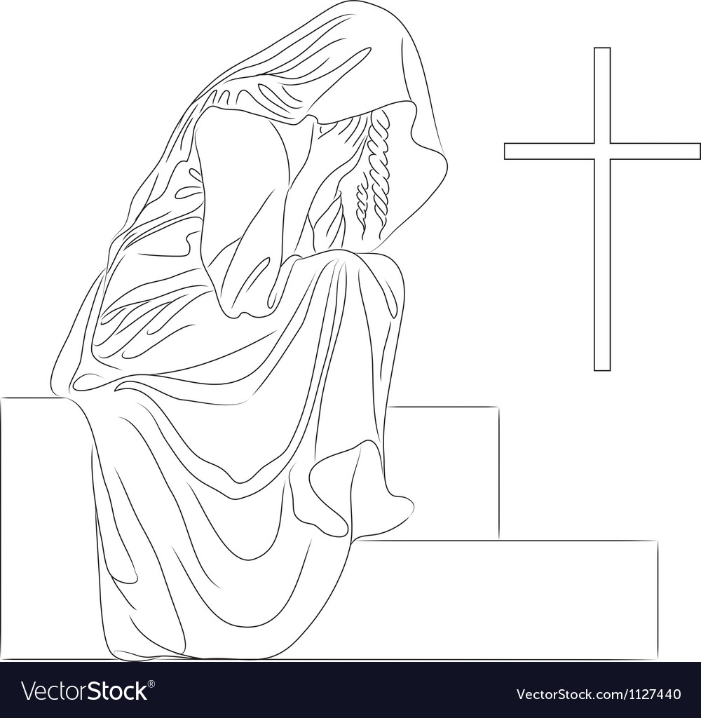 Angel tombstone vector | Price: 1 Credit (USD $1)