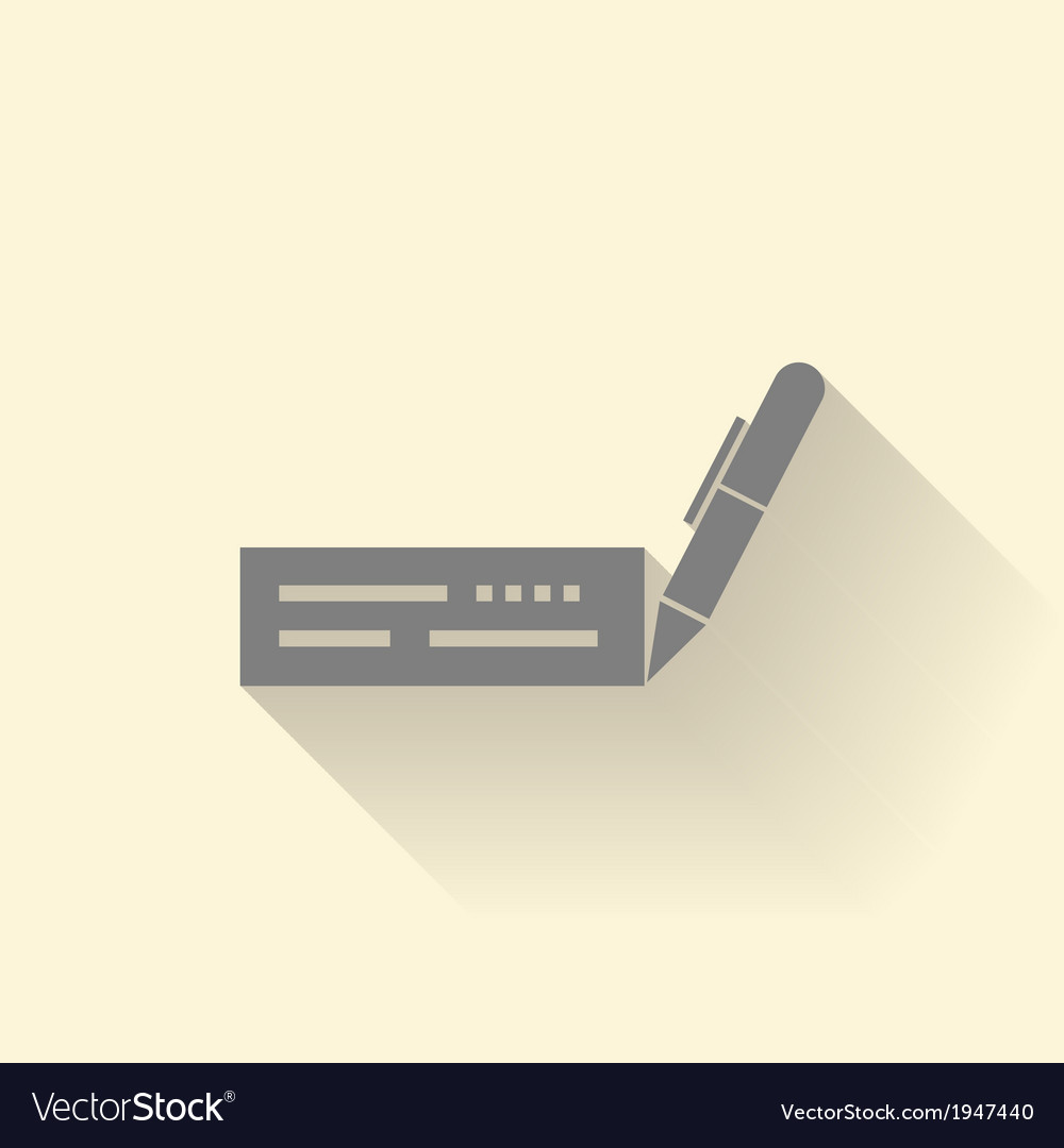 Cheque icon vector | Price: 1 Credit (USD $1)