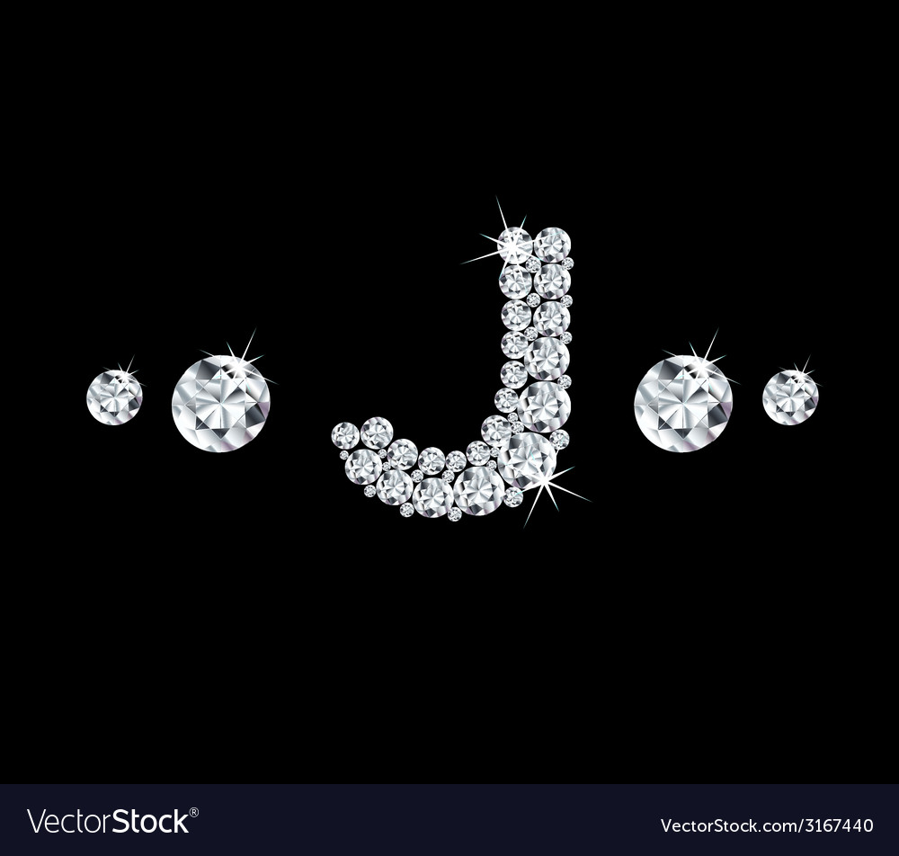 Diamond alphabetic letter j vector | Price: 1 Credit (USD $1)