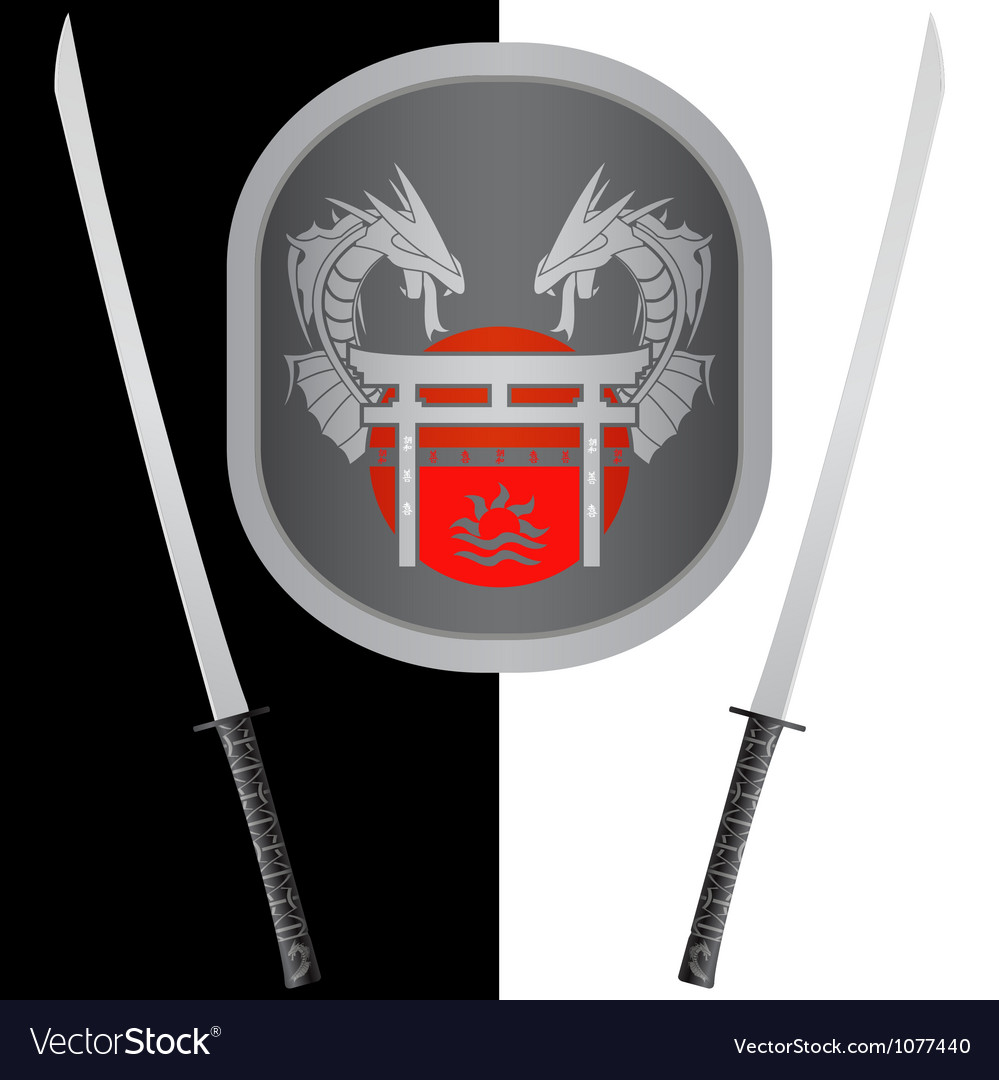 Fantasy shield and swordsseventh variant vector | Price: 1 Credit (USD $1)