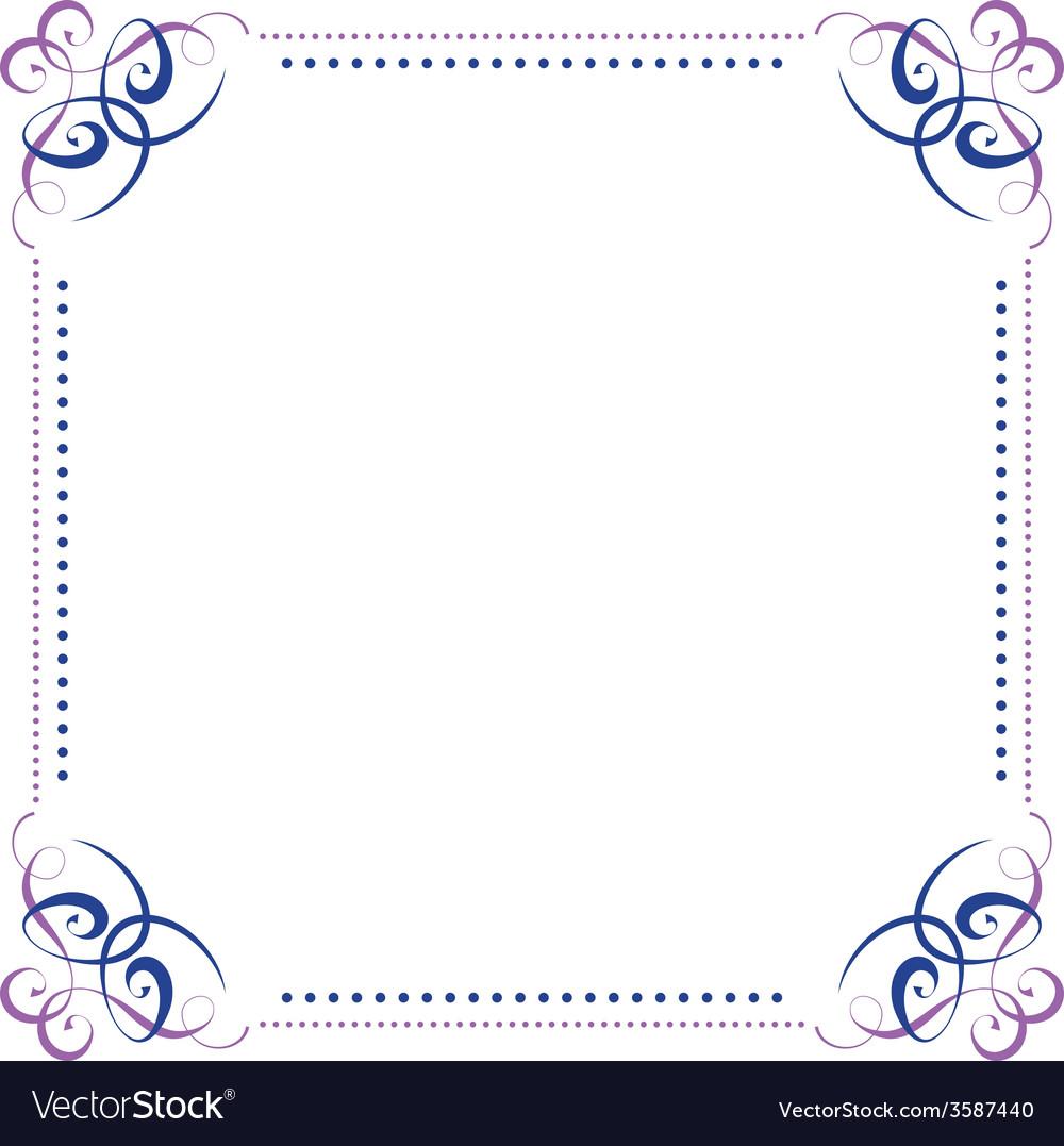 Multilayer violet blue elegant frame vector | Price: 1 Credit (USD $1)