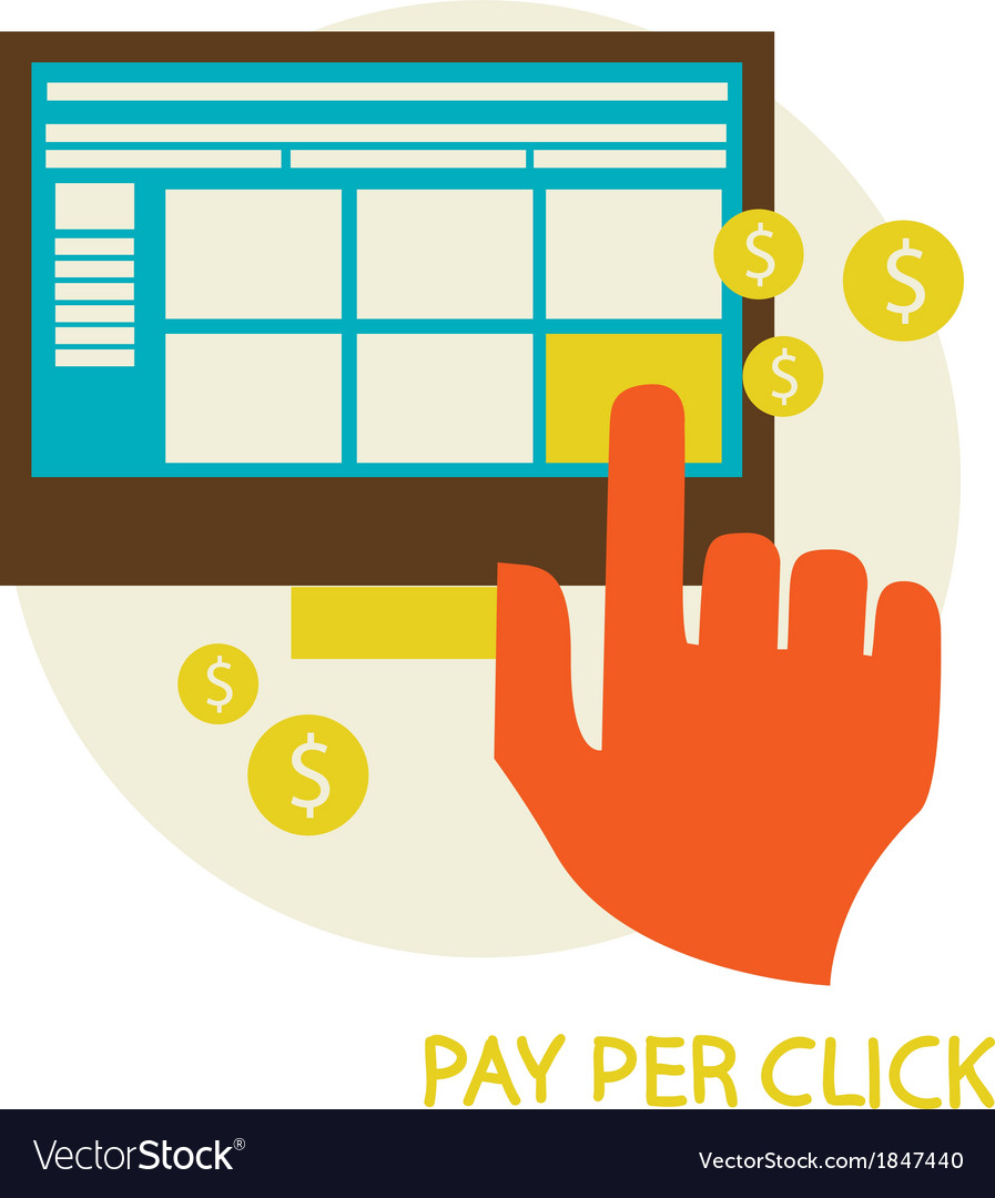 Pay per click vector | Price: 1 Credit (USD $1)
