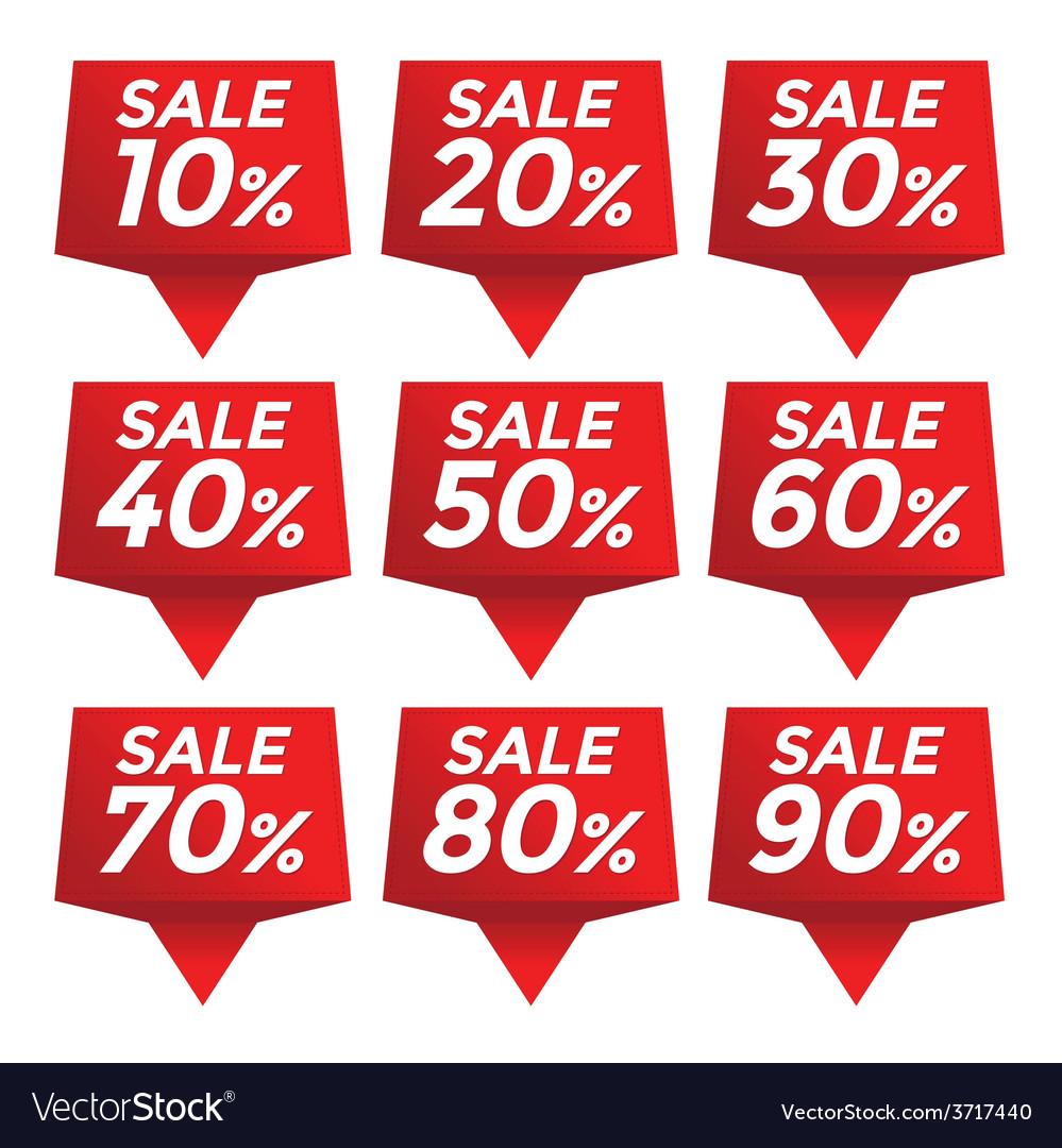 Sale percent sticker price tag vector   Price: 1 Credit (USD $1)