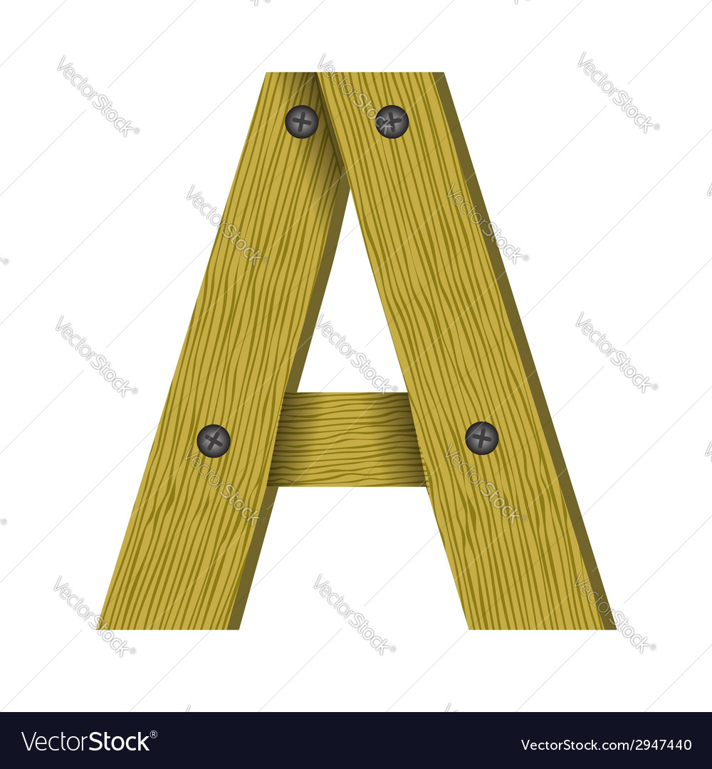 Wood letter a vector | Price: 1 Credit (USD $1)