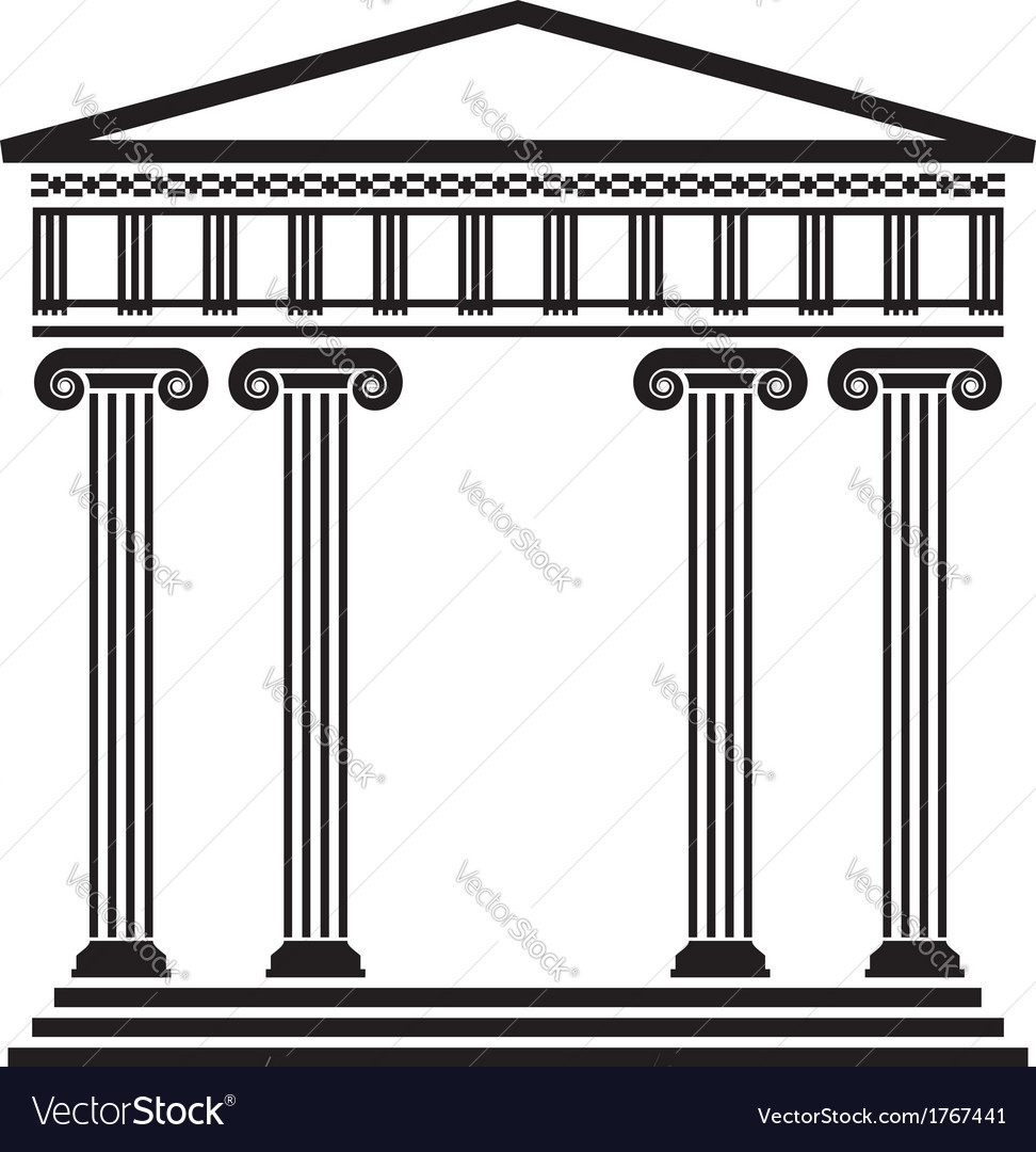 Ancient architecture vector | Price: 1 Credit (USD $1)