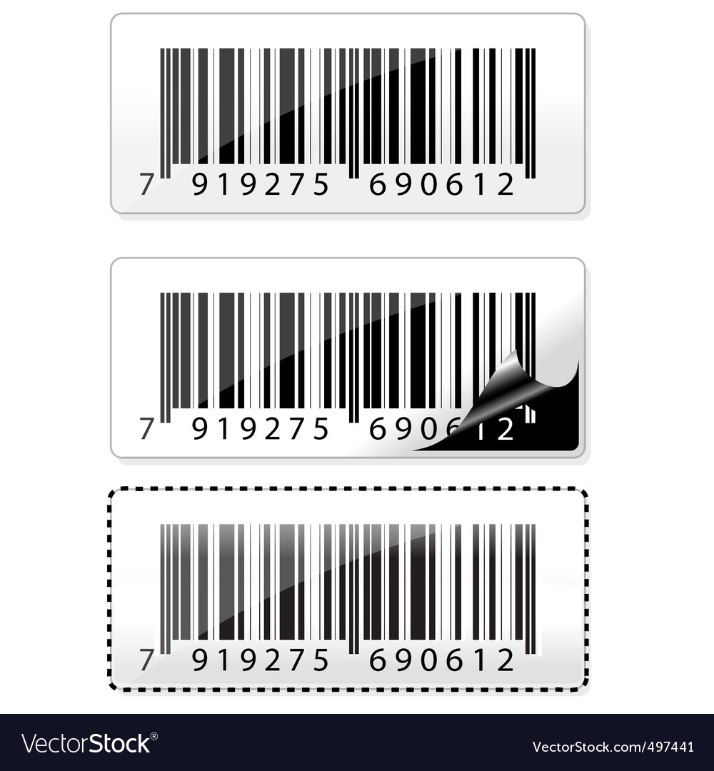 Barcode sticker vector | Price: 1 Credit (USD $1)