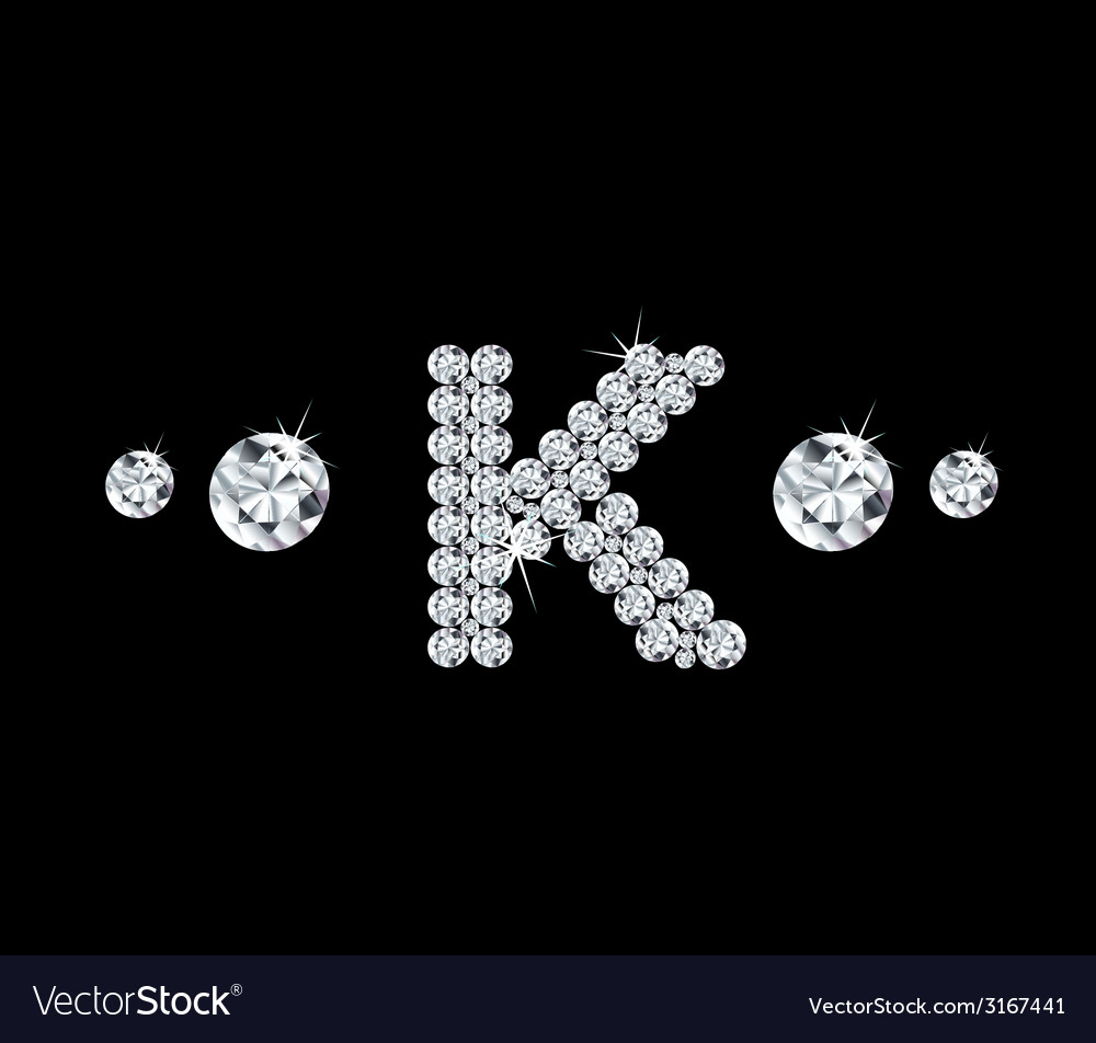 Diamond alphabetic letter k vector | Price: 1 Credit (USD $1)