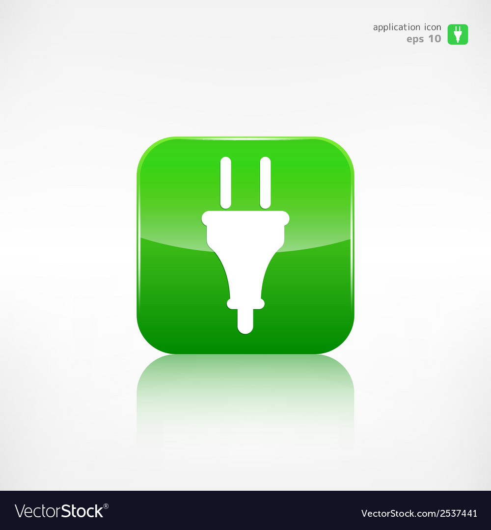 Electric plug icon electric fork symbol vector | Price: 1 Credit (USD $1)