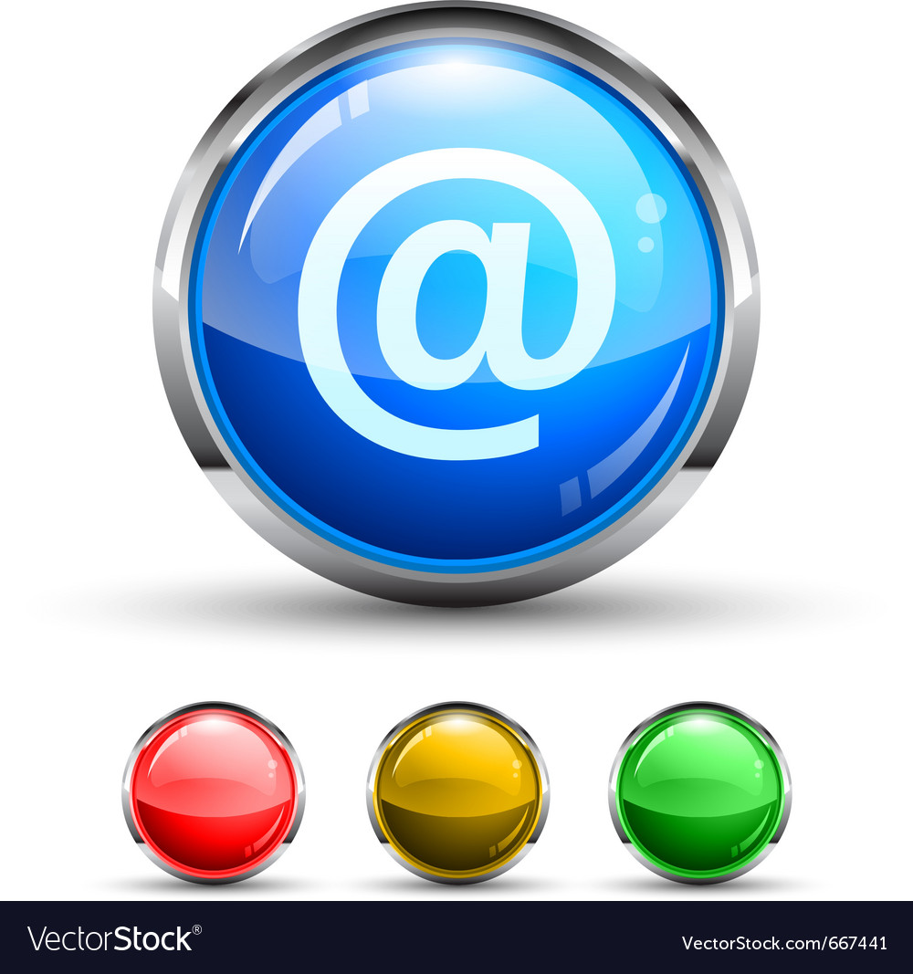 Email glossy button vector | Price: 1 Credit (USD $1)