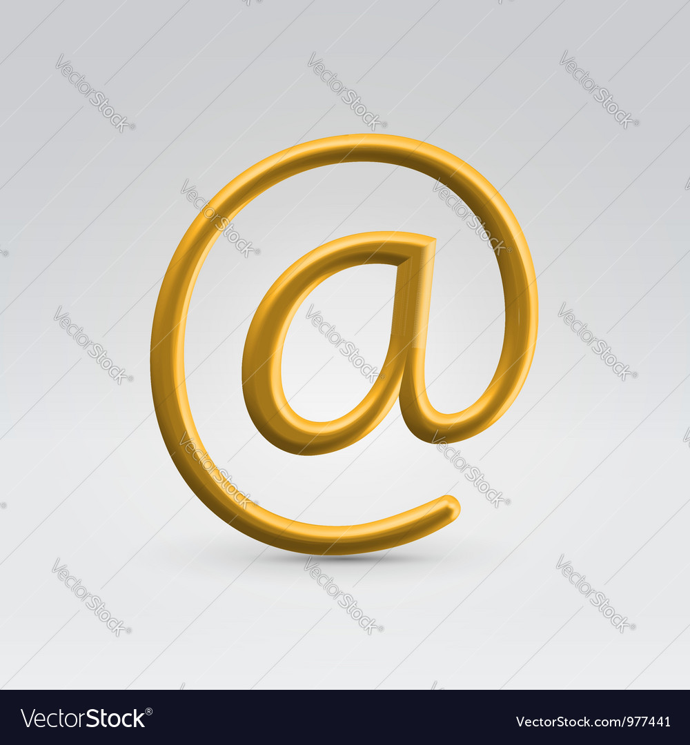Golden email over light background vector | Price: 1 Credit (USD $1)