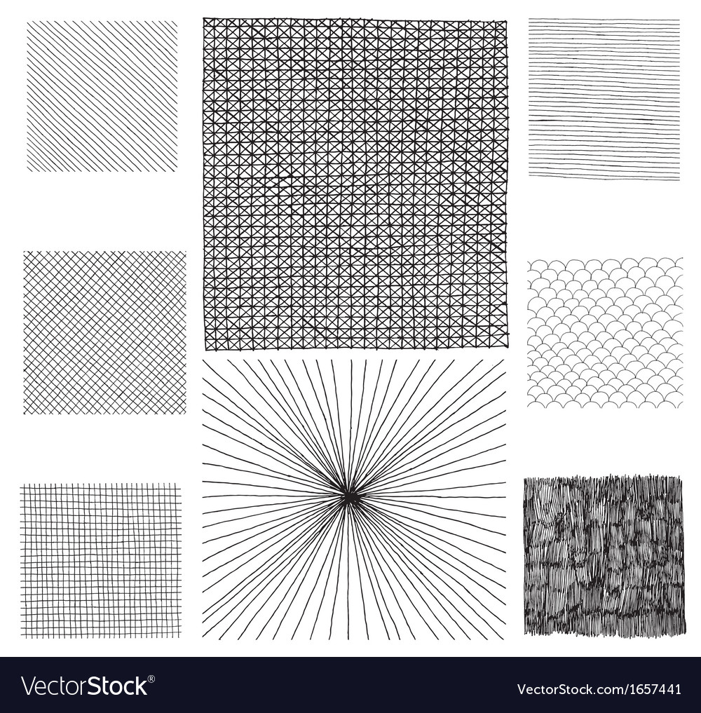 Hand drawn textures vector | Price: 1 Credit (USD $1)