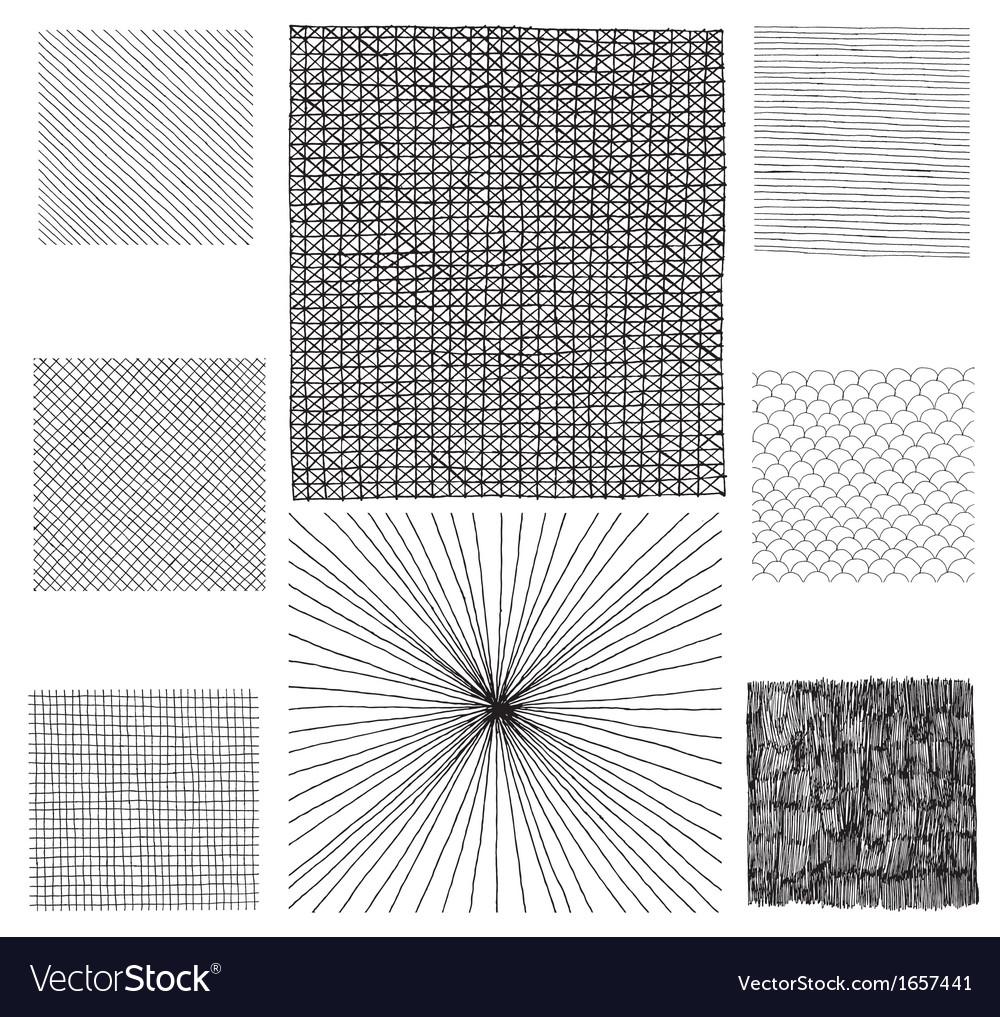 Hand drawn textures vector | Price: 1 Credit (USD $1)